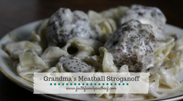 Grandma's Meatball Stroganoff