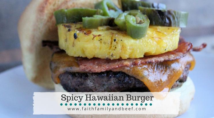 Spicy Hawaiian Burger