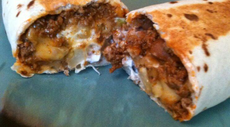 Meat and Potato Burritos