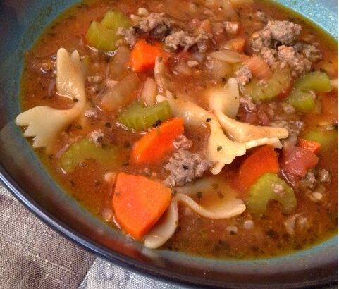 Beef Sausage and Vegetable Soup