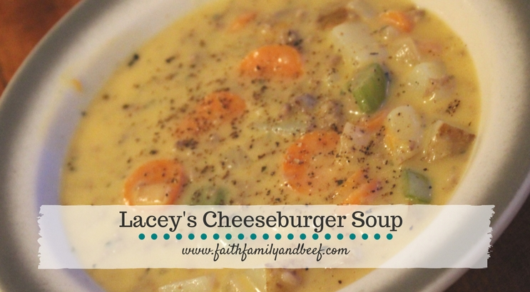 Lacey's Cheeseburger Soup