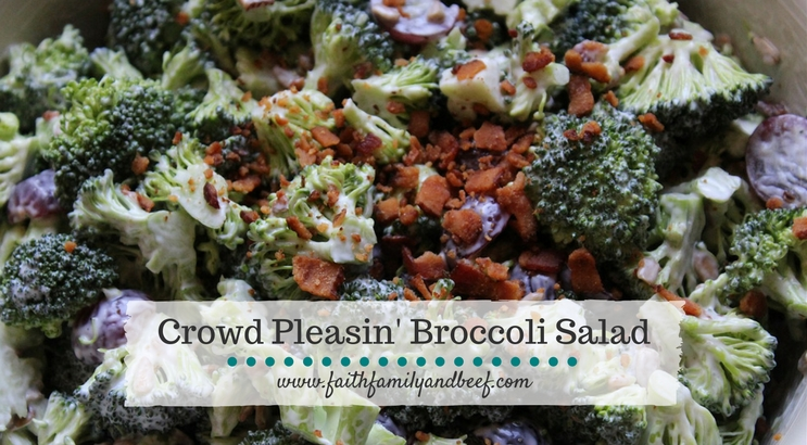 Crowd Pleasin' Broccoli Salad