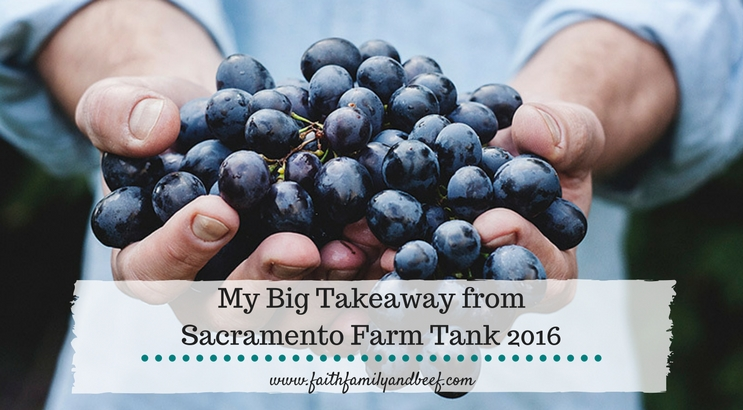 My Big Takeaway from Sacramento Farm Tank 2016