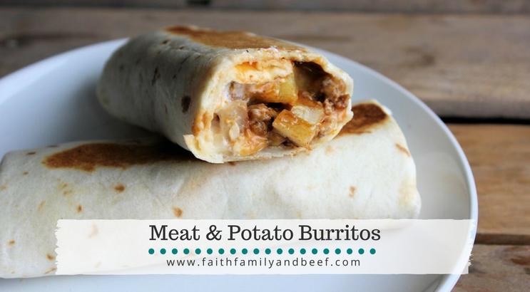 Meat & Potato Burritos
