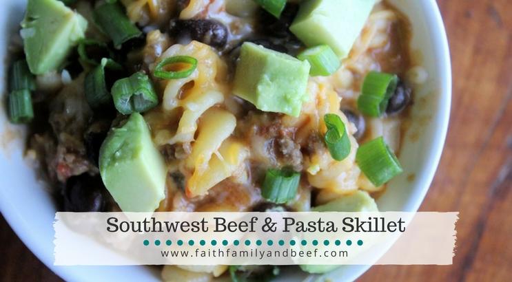 Southwest Beef & Pasta Skillet