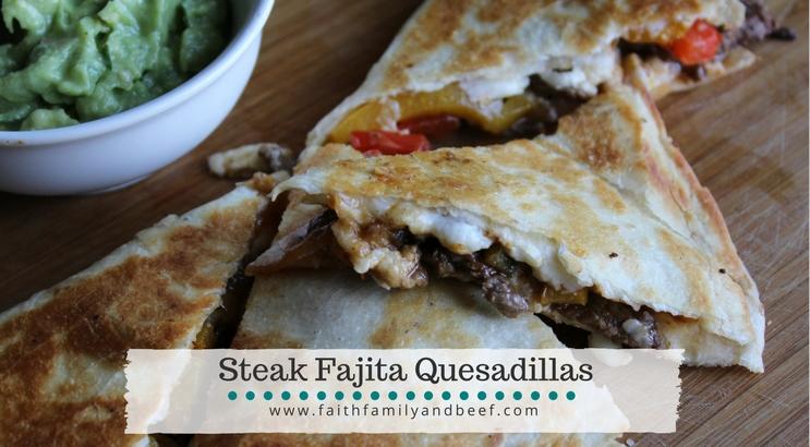 Steak Fajita Quesadillas - so good it's like a fiesta in your mouth!