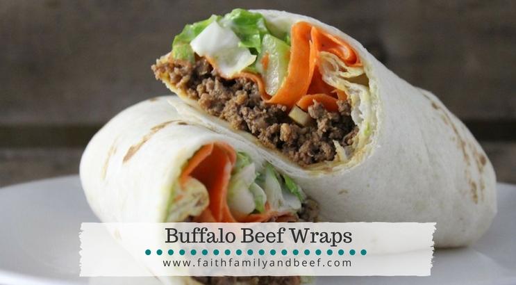 Buffalo Beef Wraps