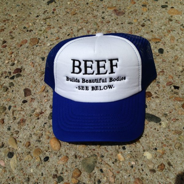 Royal Blue Beef Hat