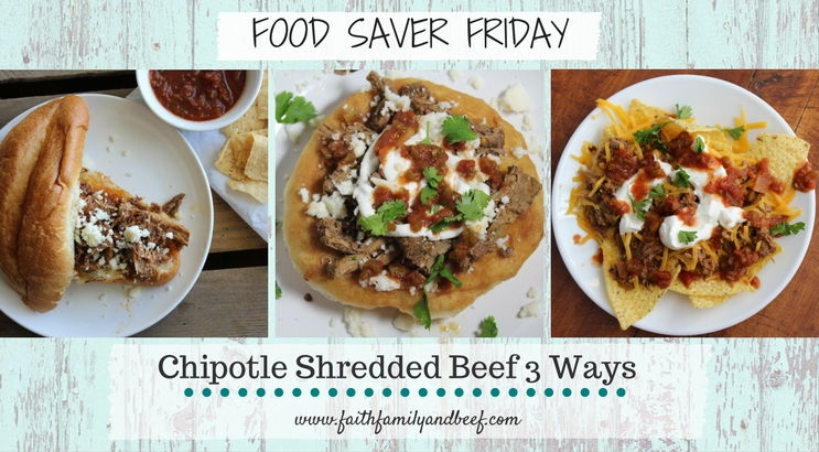 Chipotle Shredded Beef 3 Ways - Cook once eat thrice!