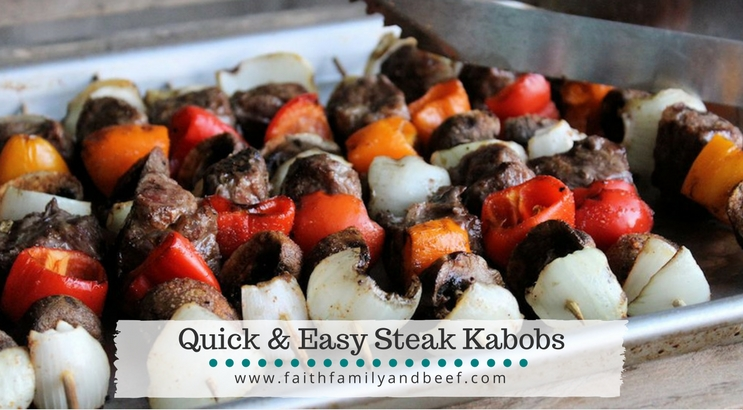Quick & Easy Steak Kabobs