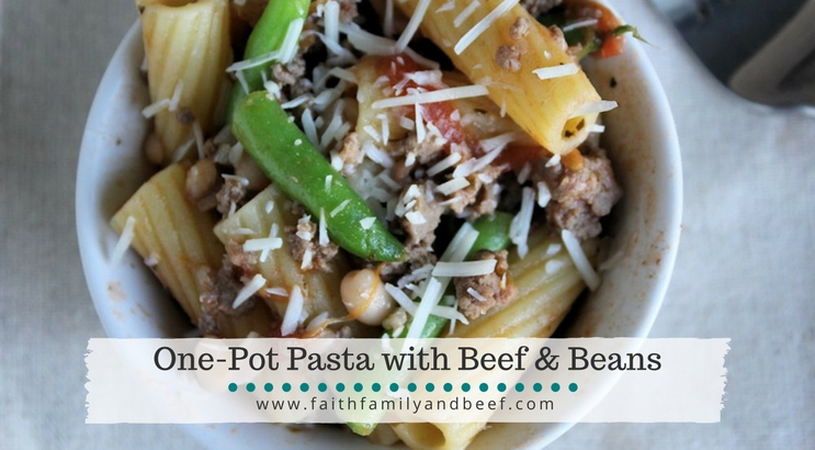One-Pot Pasta with Beef & Beans