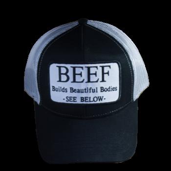 Beef Builds Beautiful Bodies Trucker Hats