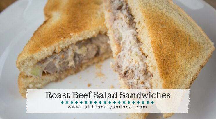 Roast Beef Salad Sandwiches - A quick, easy, and delicious way to makeover leftover pot roast.