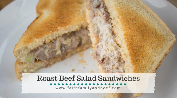 Roast Beef Salad Sandwiches