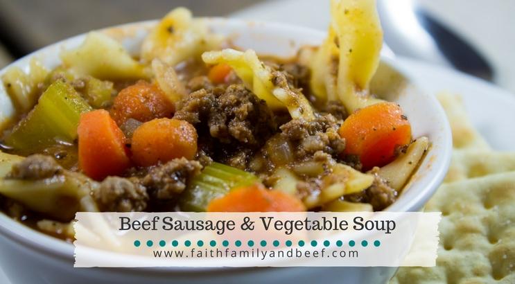 Beef Sausage & Vegetable Soup