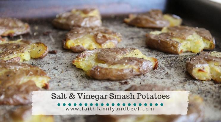 Salt & Vinegar Smash Potatoes