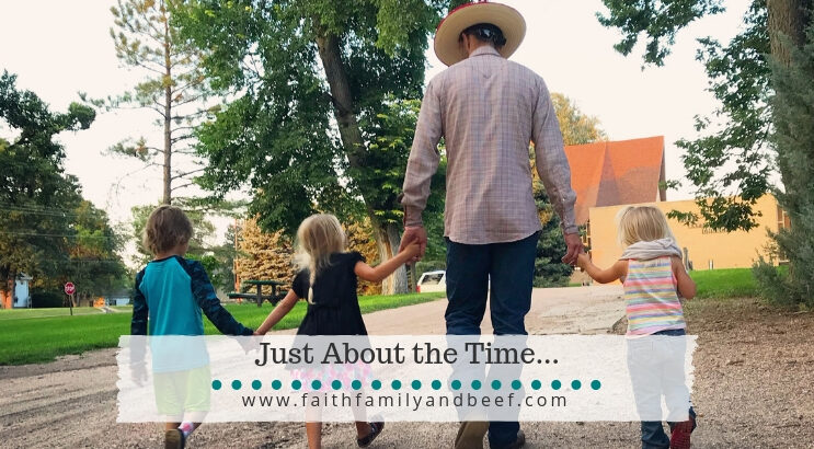 Just About the Time... celebrating the little reminders in motherhood and marriage.