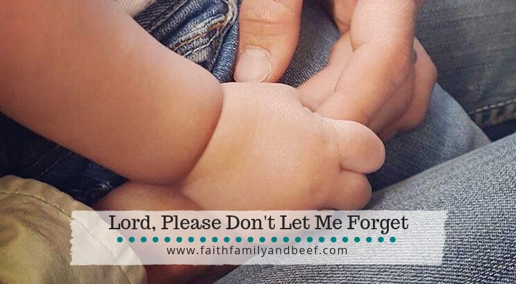 Lord, please don't let me forget. Keep fresh in my mind motherhood and hit changed me.
