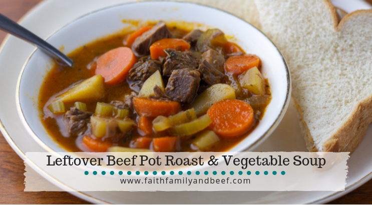 Leftover Beef Pot Roast Soup