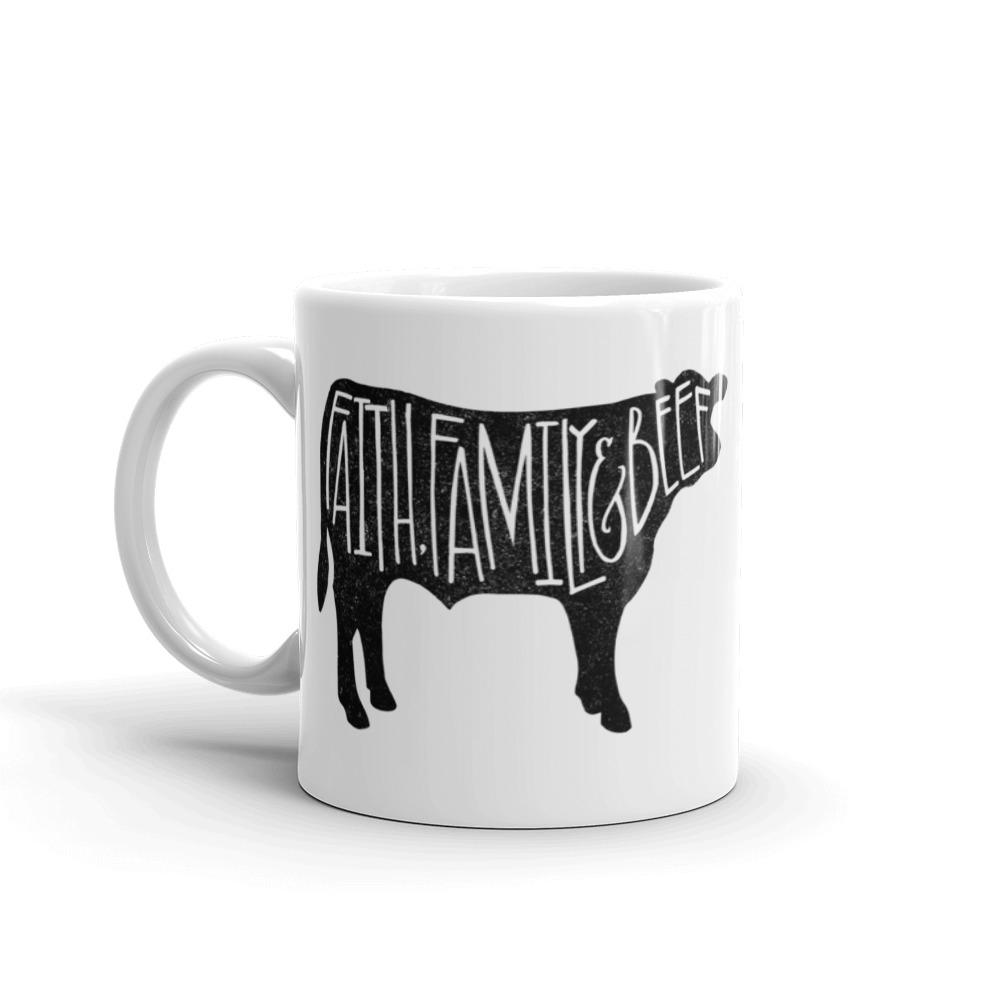 Grunge Faith Family & Beef Mug